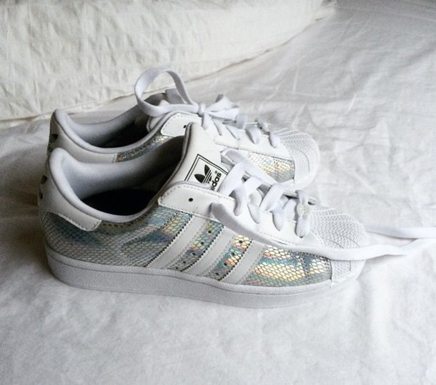 adidas superstar metallic snake schoenen