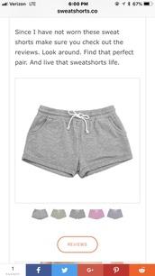 shorts,grey,sweatshorts,drawstring,women