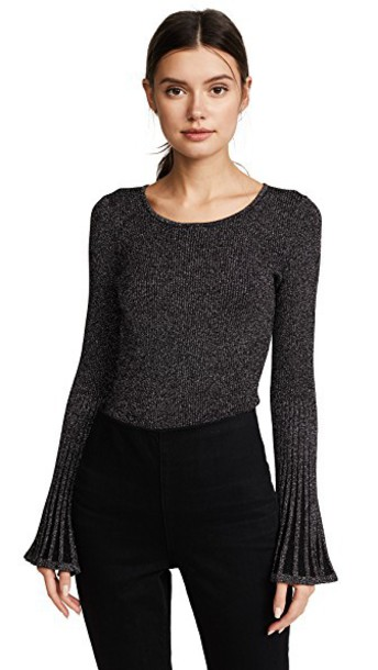 MILLY sweater flare metallic