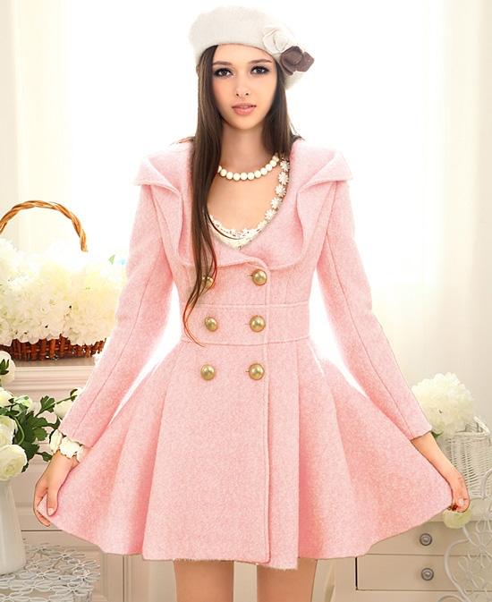 e1aad5275321 Elegant Lolita Pink Woolen Dress