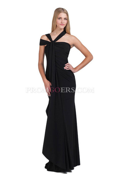 dress evening dress long prom dress black prom dress sexy prom dress reception dress promgoers.com