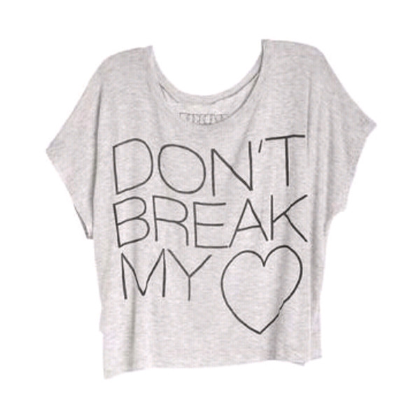 top t-shirt stardoll style dont break my heart
