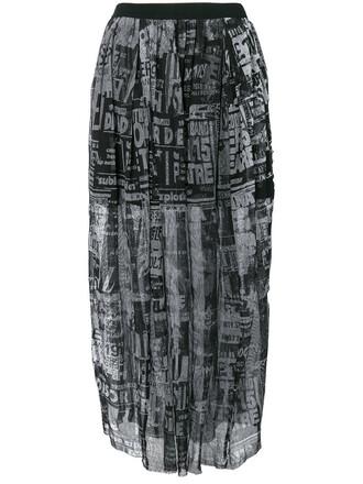 skirt mesh women cotton black