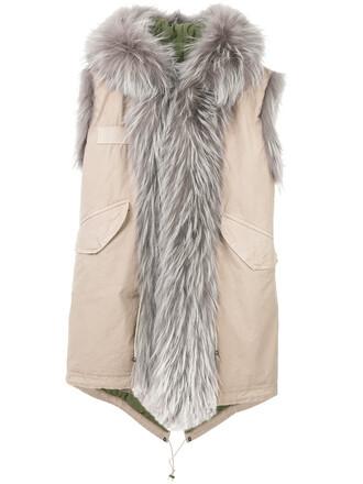 parka sleeveless women nude cotton coat