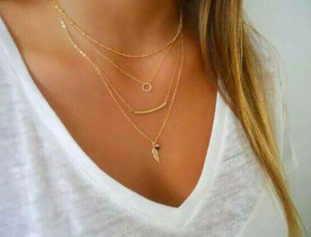 jewels necklace jewelry gold necklace layered bar necklace dainty necklace