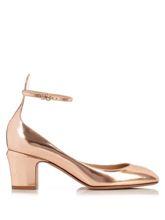 heel pumps leather rose gold rose gold shoes