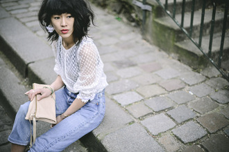 le dressing de leeloo blogger see through white blouse