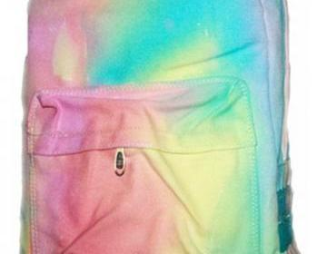 [[grhmf2200024]]Tie-dye Gradient Rainbow Ice Cream Backpack on Luulla