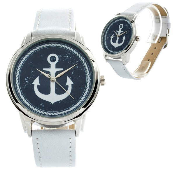 jewels watch watch white anchor ziz watch ziziztime blue and white blue