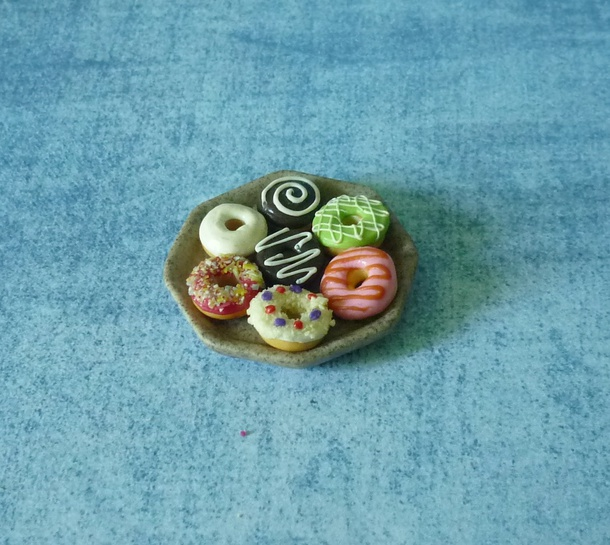 home accessory miniature donut sweet deco mini donut donut clay food donut clay polymer clay ceramic plate mini plate dollhouse miniature kawaii doll food dessert fake donut