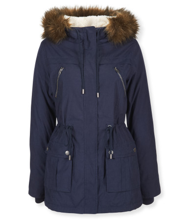 Sherpa hooded parka