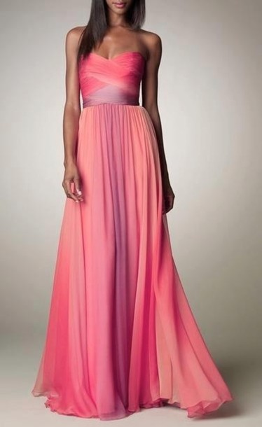 Purple Chiffon Prom Dress