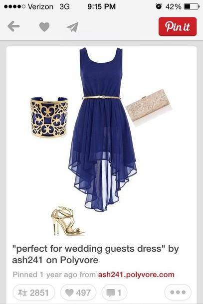 dress short navy blue dress
