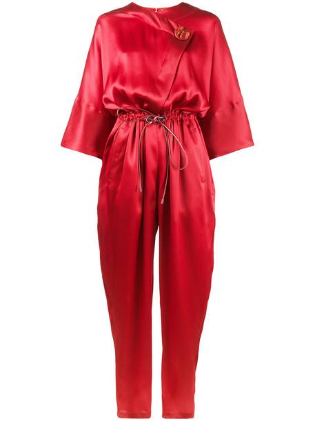 Roksanda Tamiko silk jumpsuit - Red