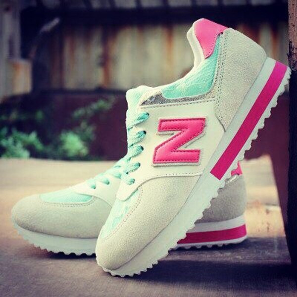 shoes new balance sneakers new balance sneakers pink turquoise