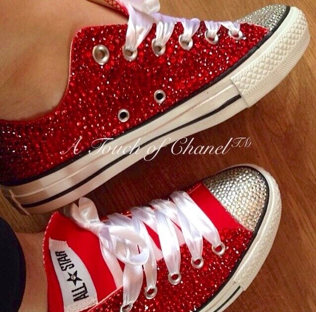 atouchofchanel                  - Crystallized Classic Low Top Chuck Taylor