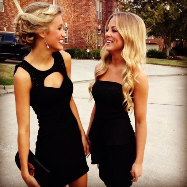 Dress Black Dress Homecoming Dress Little Black Dress Cut Out
