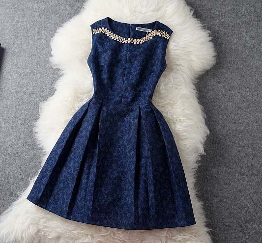 Dark Blue Dress #180 from Whitelily Fashion on Storenvy