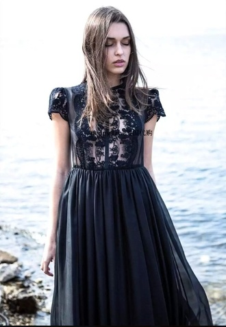 dress nastygal vintage lace dress black black dress