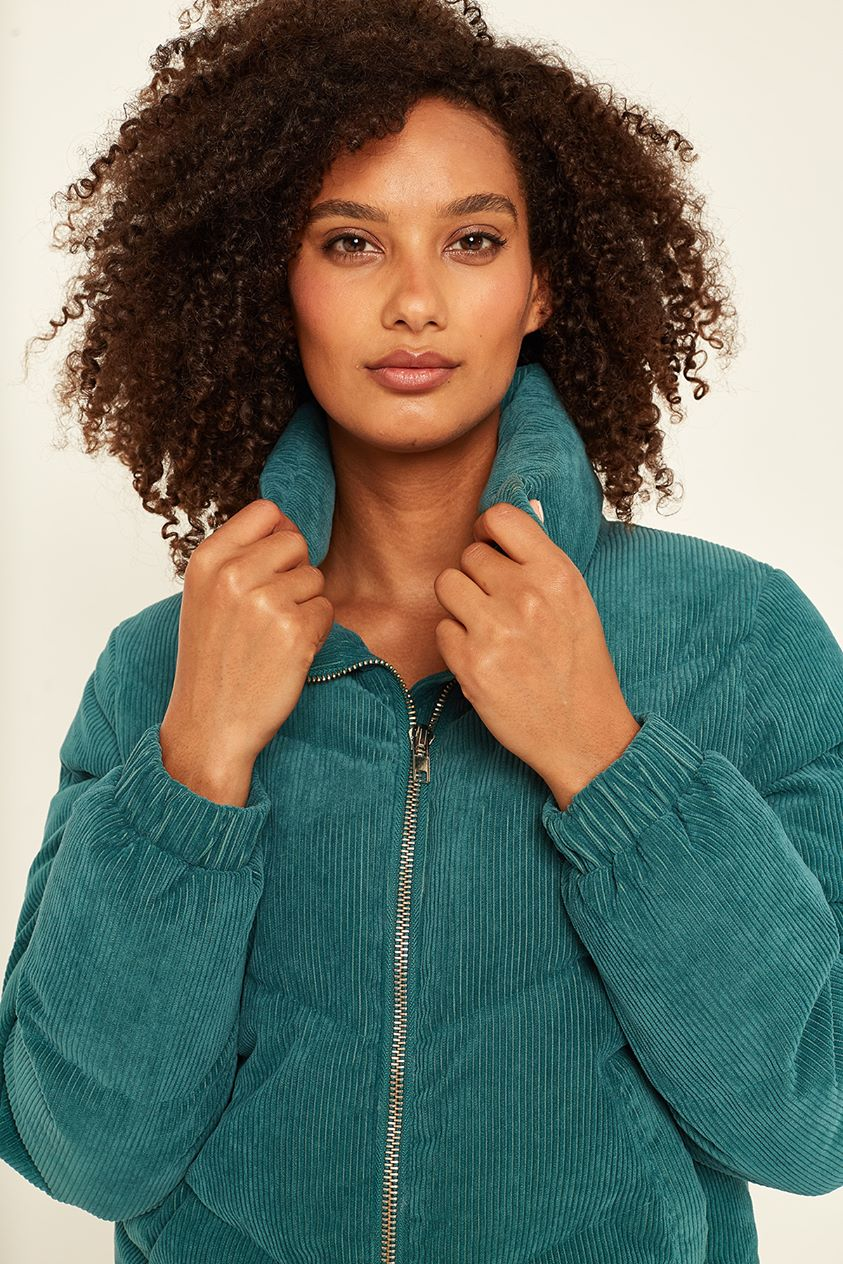 Luck & Trouble Puff Cord Jacket Teal