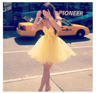 dress yellow dress princess beautiful
