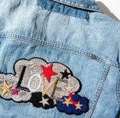 jacket,saint laurent,love,saint,36683,denim jacket,summer jacket,patched denim