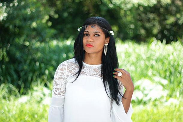 hair accessory head jewels lace boho
