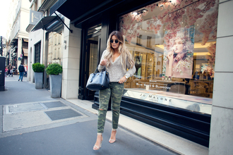 fanny lyckman blogger camo pants leather bag