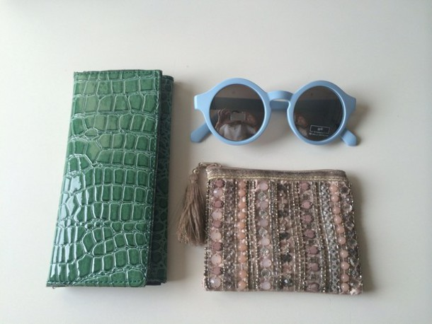 sunglasses blue sunglasses round sunglasses light blue wallet mint wallet purse bags and purses light pink purse pink purse pastel