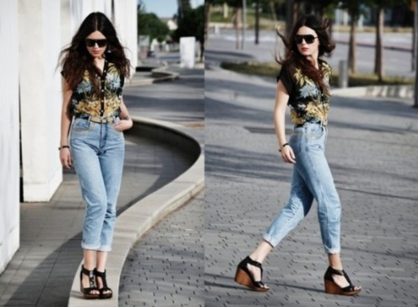 T-shirt top style fashion mom jeans shoes swag cool now hipster topshop - Wheretoget