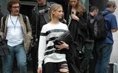 stripes,anna selezneva,black and white,sweater