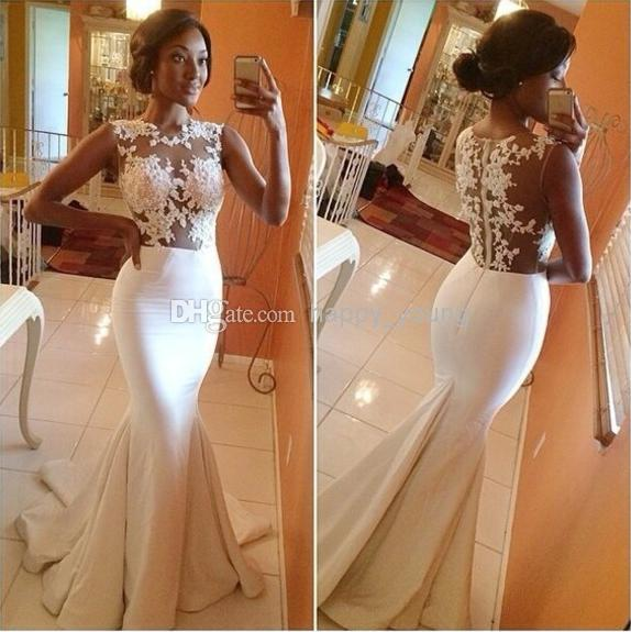 Cheap Beach Wedding Dresses - Discount Mermaid Bridal Gown 2014 New Sexy Wedding Dresses Online with $117.95/Piece | DHgate