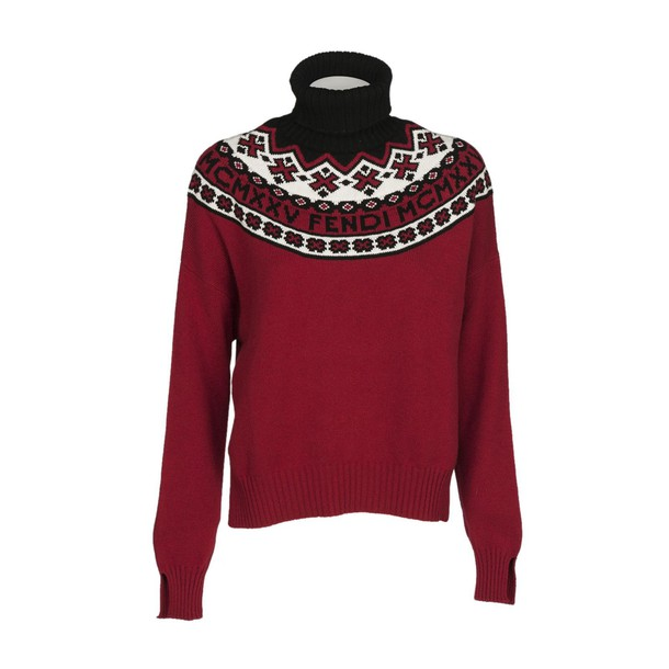Fendi sweater turtle red