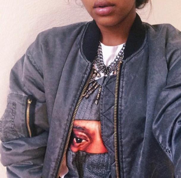 jacket bomber jacket grey cute