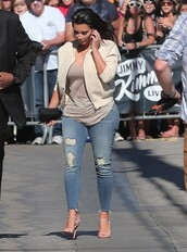 jeans,sandals,kim kardashian,shoes,jacket