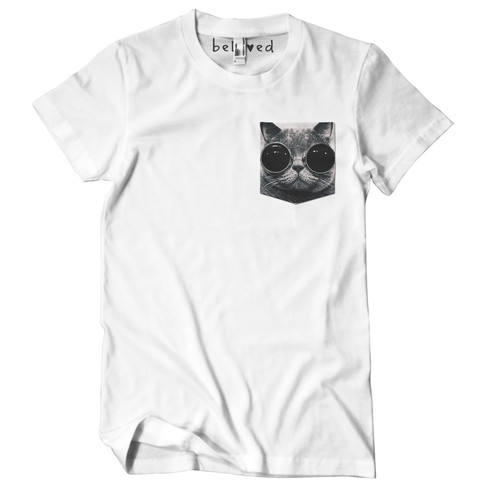 Cool Cat Pocket Tee