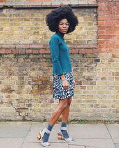 skirt,multicolor,mini dress,socks and sandals,sweater,glasses