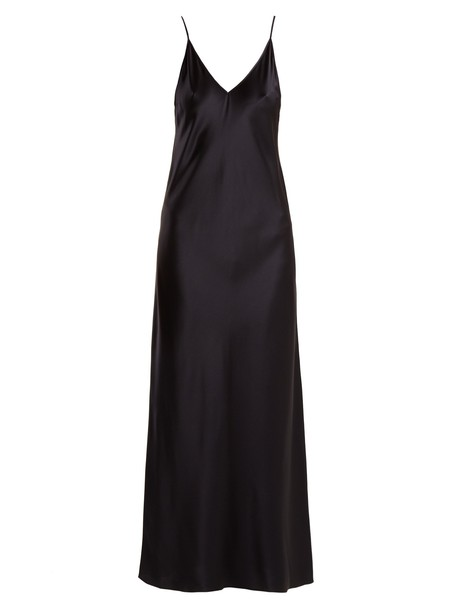 Joseph dress slip dress silk satin navy