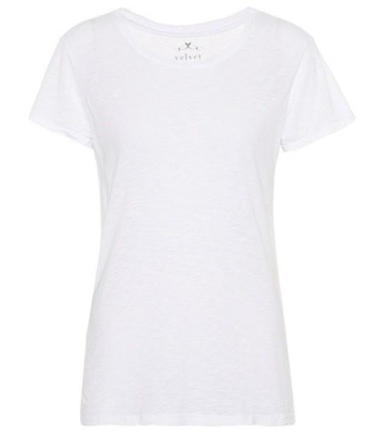 Velvet t-shirt shirt t-shirt cotton white top
