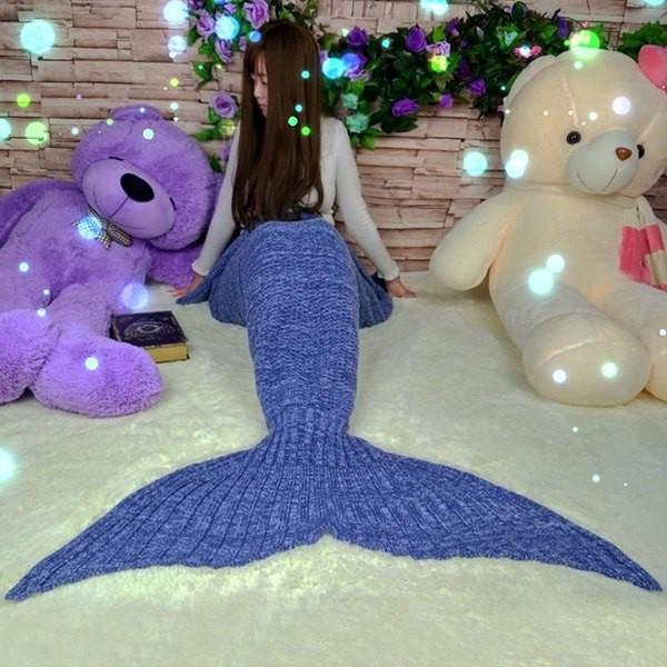 Buy 2016 new handmade mermaid fish tail - Cobertor para sofa ...