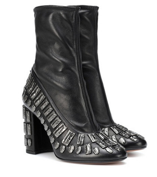 Samuele Failli Bea embellished leather ankle boots in black