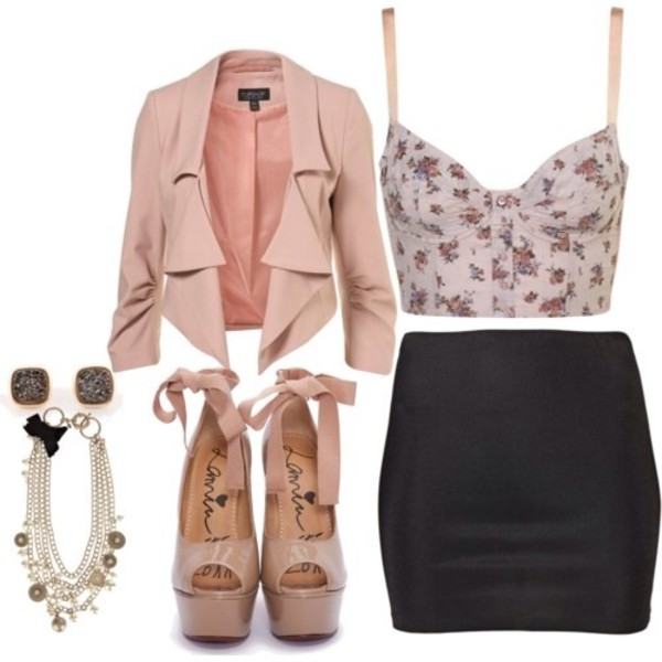 bag blouse jewels jacket skirt shoes