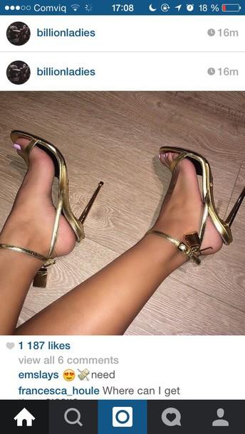 shoes gold heels sandals