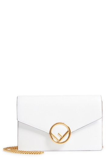 Fendi Liberty Logo Leather Wallet on a Chain | Nordstrom