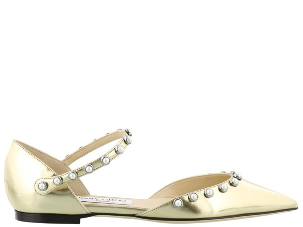 Jimmy Choo gold shoes
