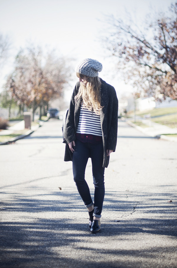 just another me sweater jeans blouse jacket shoes hat coat