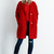 Bright Red BOUCLE COAT