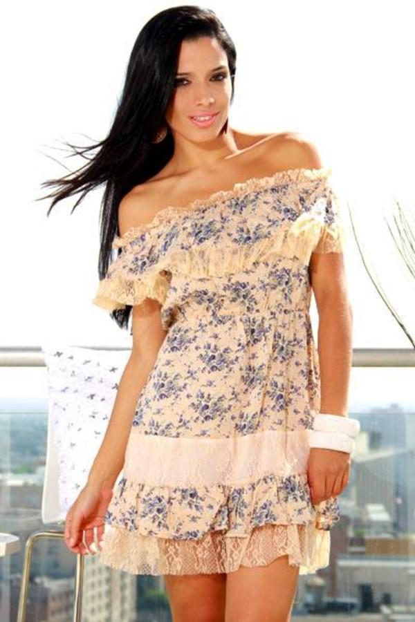 dress floral lace