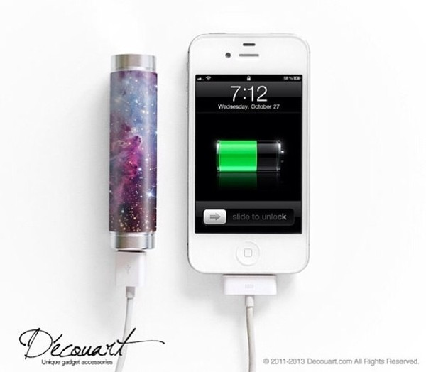 jewels galaxy print iphone charger pretty home accessory portable charger charger technology