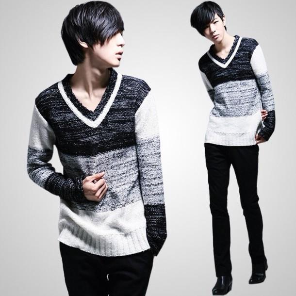 Sweater Kpop Menswear Asian Kstyle Korean Fashion Korean Style Asian Fashion Wheretoget